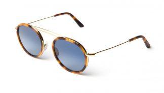 LGR EUFRATE Gold / Havana Maculato 39 // Blue HD Gradient